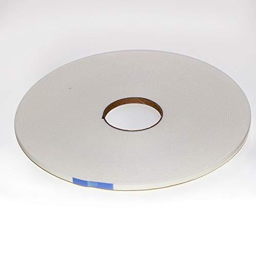 KGM Sockelleisten Klebeband 25m | Schallschutz Klebeband PE ✓Selbstklebend ✓Trittschall Dämmung ✓weiß | Schalldämmung 3x7mm | Dämmstreifen 25m Rolle