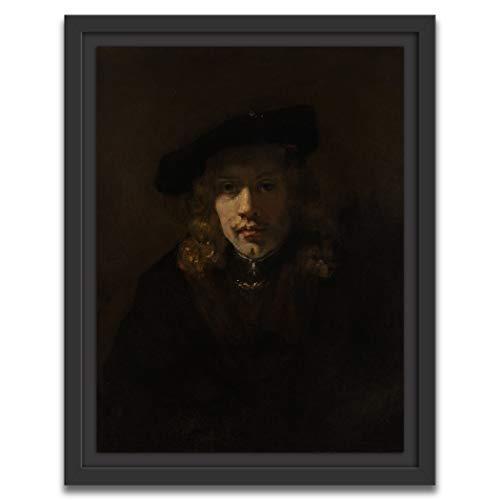 Printed Paintings Caisse américaine (40x55cm): Style de Rembrandt - Homme dans Un béret