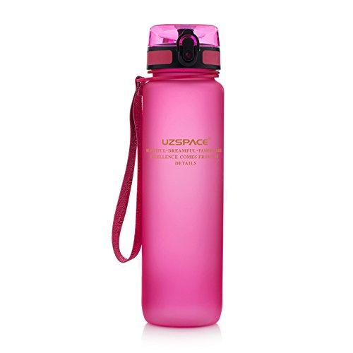 Tofern Outdoors Botella de agua sin BPA con tapa abatible - Botella de Agua con Flip Top Tapa 500ML Rosado