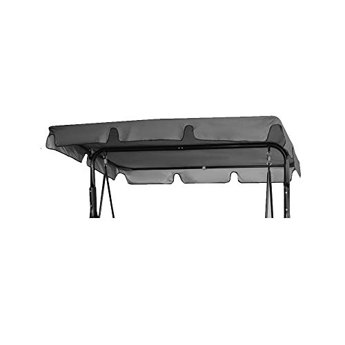 Toldo balancín impermeable de 164 x 114 x 15 cm. Techo balancín de 2 plazas para repuesto de 210D Oxford parasol, balancín de jardín, anti-UV, antiagua (gris, 164 x 114 x 15 cm)