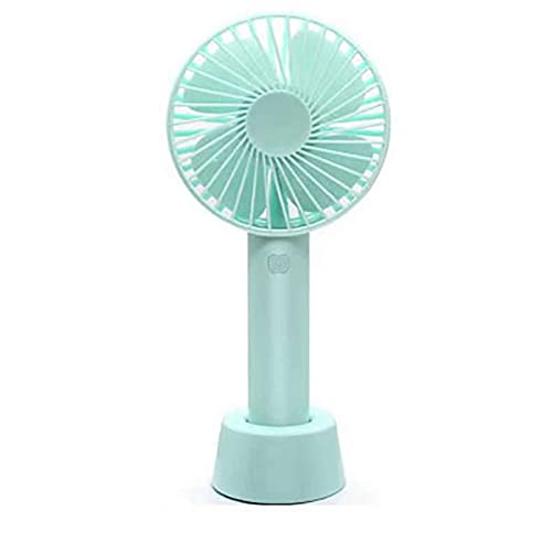 VNFWLDM Mini Ventilador De Mano, Ventilador De Escritorio USB, Ventilador De Mesa Portátil Personal Pequeño con Ventilador Eléctrico De Enfriamiento De Refrigeración De La Batería Recargable,Azul
