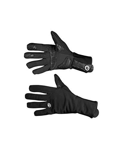 ASSOS earlyWinterGloves_s7 Black Volkanga - Guantes de Ciclismo para Invierno, tamaño XL(24cm)