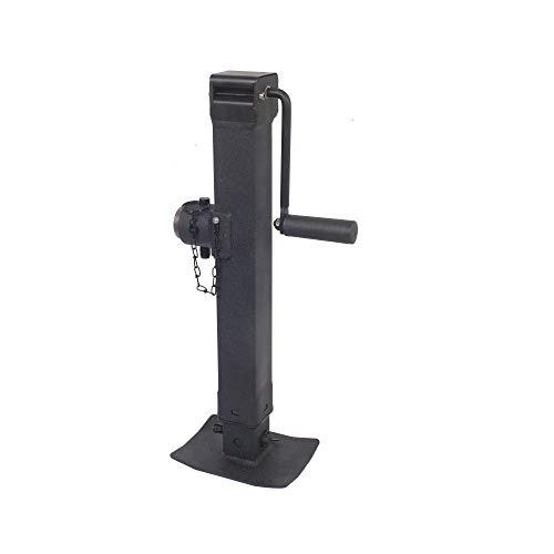 Trailer Valet Blackout Series 7K Side Wind Pipe Mount Jack 15'
