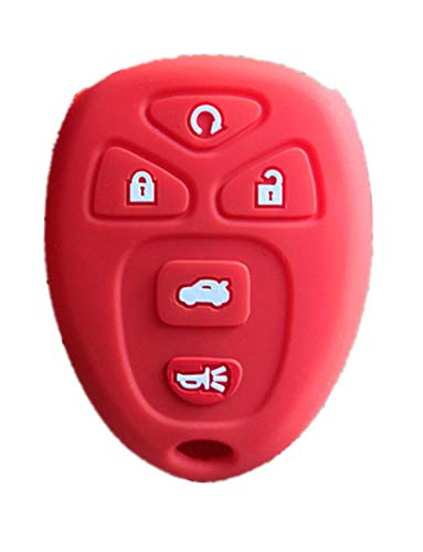 KAWIHEN Silicone Key Fob Cover Compatible with Buick Cadillac Chevrolet Chevy GMC Pontiac Saturn 5 Buttons key fob KOBGT04A 22733524 10305091 10305092 OUC60270 OUC60221 15913415 15857839