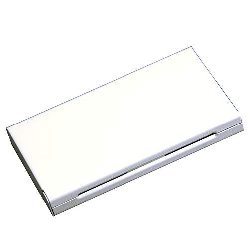 QLIGHA Las Cajas de Cigarrillos de aleación de Aluminio y Metal para Mujeres Pueden acomodar 20 palitos de Humo Fino, Caja de Cigarrillos ultradelgada portátil,Blanco,20sticks