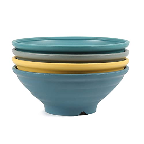 shopwithgreen 4 pcs Japanische Ramen Schüssel Set, 44 OZ Premium Suppe Schale , Multifunktional Müslischale für Pasta Obst Nudel Salat, Große Schüssel für Kinder und Erwachene|Spülmaschinenfest