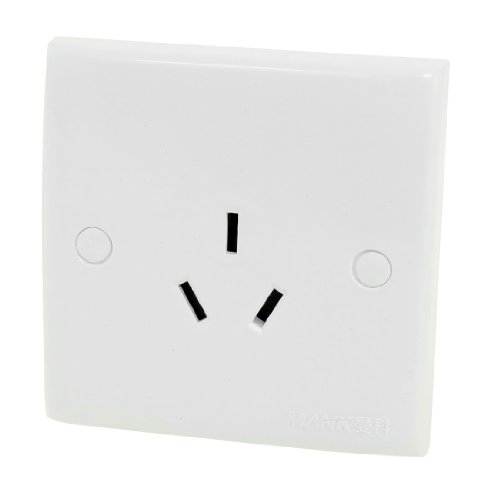 Aexit Weißes Gehäuse 3 Pin AU Steckdose Wandmontageplatte Panel AC 250V 16A (97c70f3186aefc4ced9598f4d0905ce6)