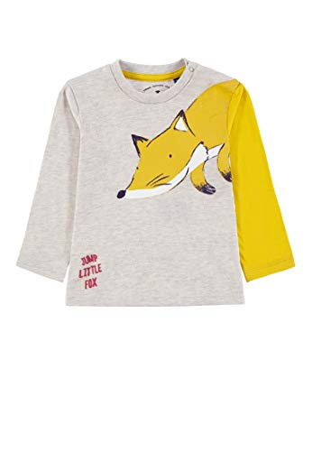 TOM TAILOR Kids T- Shirt Placed Print, Beige (Lunar Rock Mélange 8439), 68 Bébé garçon