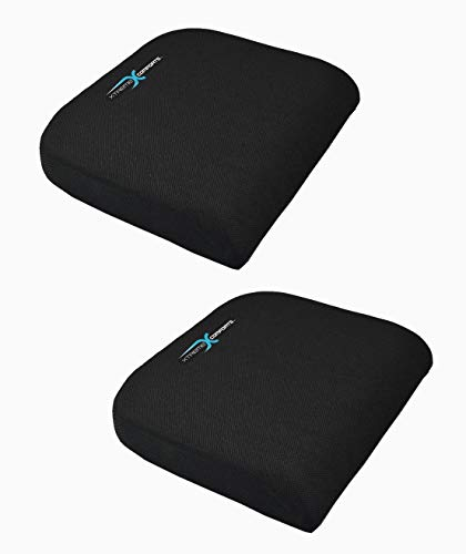 Xtreme Comforts Large Seat Cushion with Carry Handle and Anti Slip Bottom Gives Relief from Back Pain (2 Pack)