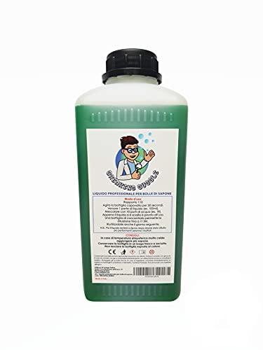 Breaking Bubble Ricarica bolle di sapone giganti -10 litri di liquido per bolle- Flacone da 1 litro concentrato da diluire
