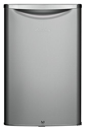 Danby DAR044A6DDB 4.4 Cu.Ft. Mini Fridge, Compact Refrigerator For Bedroom, Living Room, Bar, Dorm, Kitchen, Office, E-Star In Silver, 3 Sq Ft