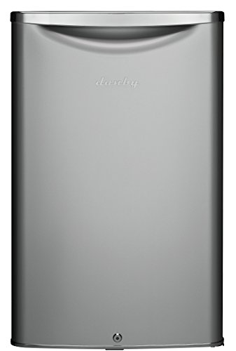 Danby DAR044A6DDB 4.4 Cu.Ft. Mini Fridge, Compact Refrigerator For Bedroom, Living Room, Bar, Dorm, Kitchen, Office, E-Star In Silver