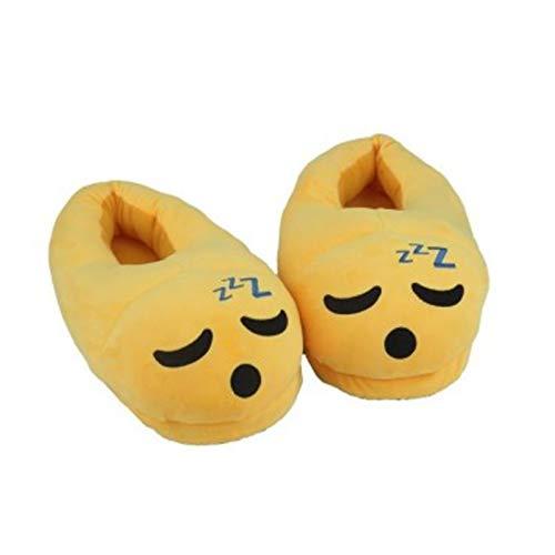 Zuyau Hausschuhe aus Baumwolle Männer Frauen Winter Warme Baumwolle Hausschuhe Pantoffel Emoji Indoor Weiche Cartoon Schuhe Pantoffel Unisex Flache Schuhe 7