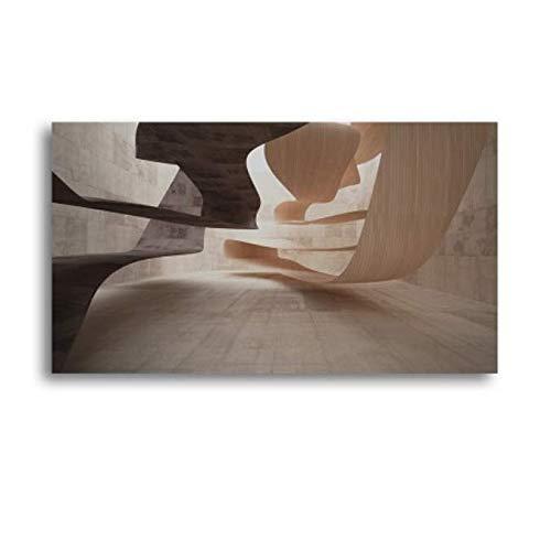 Xin Yao Store Arquitectura En Blanco Y Negro Lienzo De Arte Pintura Moderna Puente Construcción Carteles Impresiones Imágenes De Pared para Sala De Estar Decoración del Hogar50X70Cm