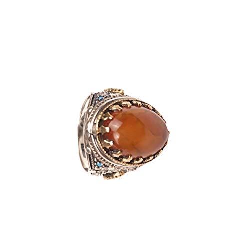 scorbis hayatınızın bir parçası 925 Sterling 11 Gram Silver Natural Stone, Hand Crafting Processing Gift Ring