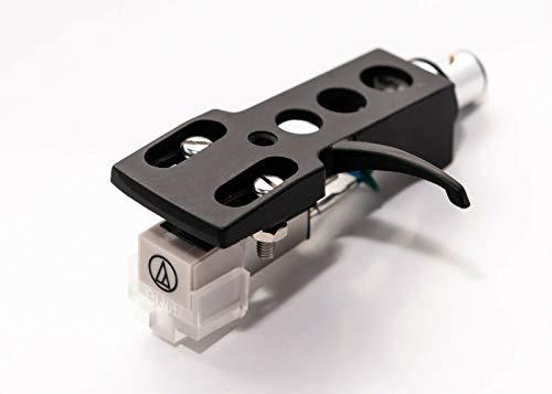 Black Headshell, AT-3600L Cartridge and Stylus, Needle for Pioneer PLX-1000, PL-518, PL-530, PL-A35, PLX-500, PL-560, PL-200, PL-516, PL-255, PL-200X, XL-A700, PL-A45D
