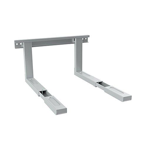 conecto CC50303 Universal-/Mikrowellenhalterung für Wandmontage Längenverstellbare Ausleger (385-535mm), Auslegerbreite 43cm, Traglast max. 35,0kg, Silbergrau