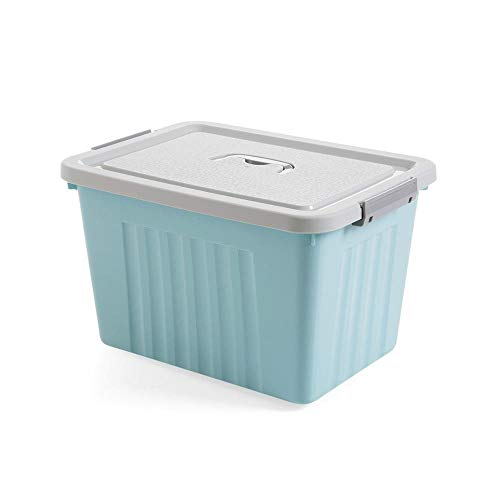 JINQIANSHANGMAO Containers Portable Plastic Large Storage Box With Lid Student Dorm Room Clothes Finishing Box Candy Snacks Container Organiser (Color : M 39x28x23.5CM)