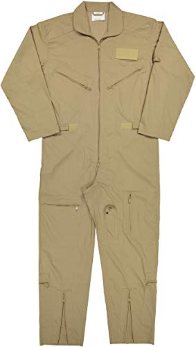 Army Universe Air Force Flight Suits, US Military Type Coveralls, Uniform Overalls/Jumpsuits Pin (Khaki, X-Large)