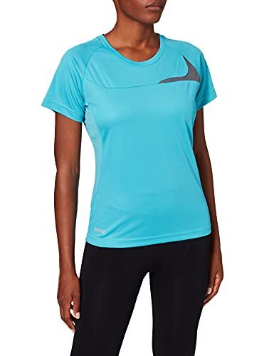 adidas Spiro Trainings-Shirt, Bleu (Aqua/Grey 351), XS Femme