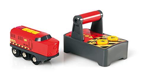 BRIO World 33213 IR-Frachtlok – Elektrische Lokomotive mit Fernsteuerung – Zubehör für die BRIO World – Kleinkindspielzeug empfohlen ab 3 Jahren