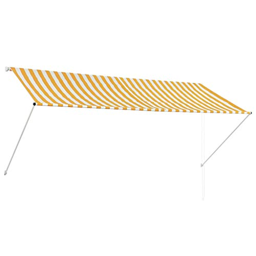 vidaXL Markise Gelb Weiß 300x150cm Sonnenschutz Beschattung Windschutz Garten