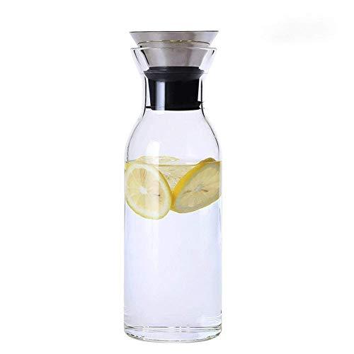 AHTOSKA Botella de vidrio de borosilicato de alta calidad, para restaurante, hogar, zumo de limón, té, taza de leche (1,5 L)