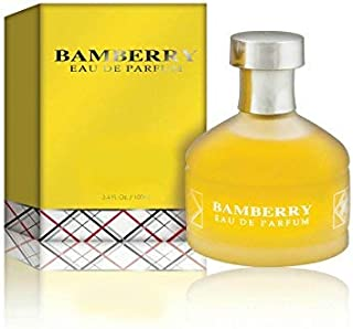 Bamberry Eau De Parfum Spray Perfume, Fragrance For Women Daywear, Casual Daily Cologne Set with Deluxe Suede Pouch- 2.8 Oz Bottle- Ideal EDP Beauty Gift for Birthday, Anniversary