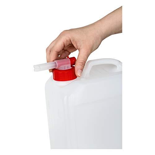 HAKA Dosierhahn für HAKA Kanister I 1 Stück I Für alle HAKA 3-, 5- und 10-l-Kanister geeignet I Ruck, zuck und einfach ausgießen