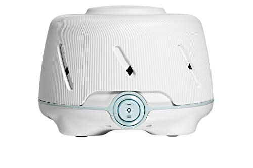Marpac Dohm (White/Blue) | The Original White Noise Machine | Soothing Natural Sound from a Real Fan | Noise Cancelling | Sleep Therapy, Office Privacy, Travel | For Adults & Baby | 101 Night Trial