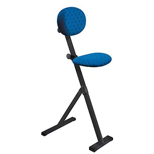 Kappes | ErgoPlus Stehhilfe mit Rückenlehne | Höhenverstellbar | Dunkelblau | Ergonomisch | Stehstuhl Werkstattstuhl