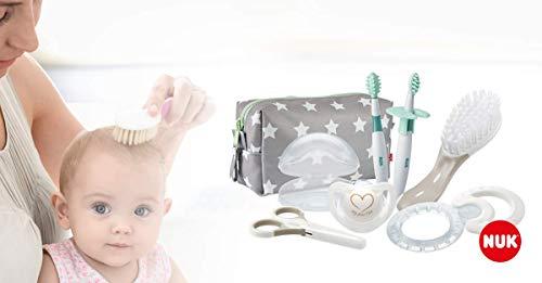 NUK 10256412 Welcome Set, perfekte Erstausstattung für Neugeborene, sieben NUK Produkte in einer schönen Tasche, Weiß/Grau/Mint Neutral - 5
