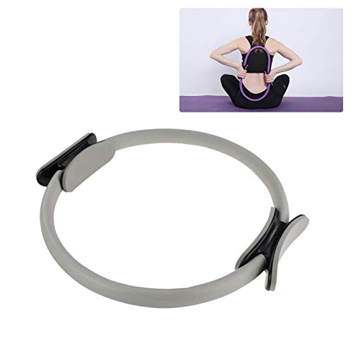 HINATAA Pilates-Ring, Pilates-Ring, Yoga-Ring, Doppelgriff, zum Verbrennen von Fett 12,7 cm/39 cm, grau