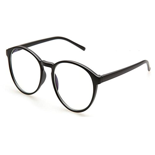 Preisvergleich Produktbild Yefree Runde Unisex Brille Übergroße Nerd Klare Linse Brille UV Schutz Anti Blaues Licht Platz