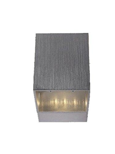Ruanyi Pared de luz LED, lámpara de cama cuadrada de 1W Lámpara de dos luces Lámpara de techo de aluminio Iluminación de hogar Lámpara de pared industrial (Color : Yellow)