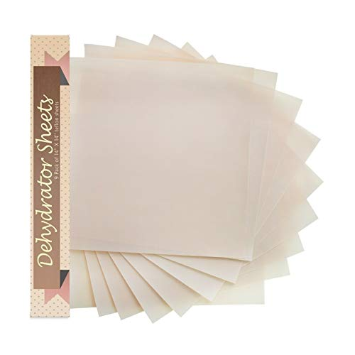 Great Price! Food Dehydrator Sheets, Set of 9 Premium 14 X 14 Non-Stick, Quick Delivery