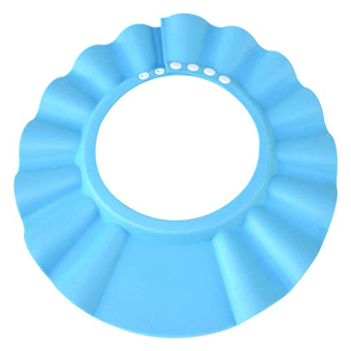 Safe Shampoo Shower Bathing Protection Bath Cap Soft Adjustable Visor Hat for Toddler, Baby, Kids, Children Pink