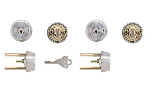 GOAL(ゴール) ピンシリンダー TXタイプ GCY-81 キー標準3本付属 玄関 鍵 交換 取替え 2個同一セット テール刻印40 /扉厚40〜43mm向け GCY81 TX /TDDシルバー色