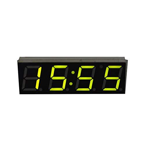 CVBN Voltímetro del módulo del Voltaje de la Temperatura del Reloj del Tiempo del LED Digital 3 en 1 para el Coche, Verde