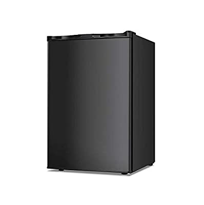 3.0/2.1 Cu.ft Compact Upright Freezer with Reversible Single Door Removable Shelves Mini Chest Freezer with Adjustable Thermostat for Home/Kitchen/Office Black (3.0 Cu.ft)
