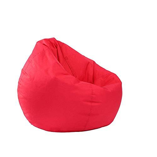 Pilot2 Wasserdichter Sitzsack Sitzsack mit großem Stauraum Oxford-Stuhlbezug für Kinder, Jugendliche und Erwachsene (Rot, Einheitsgröße)