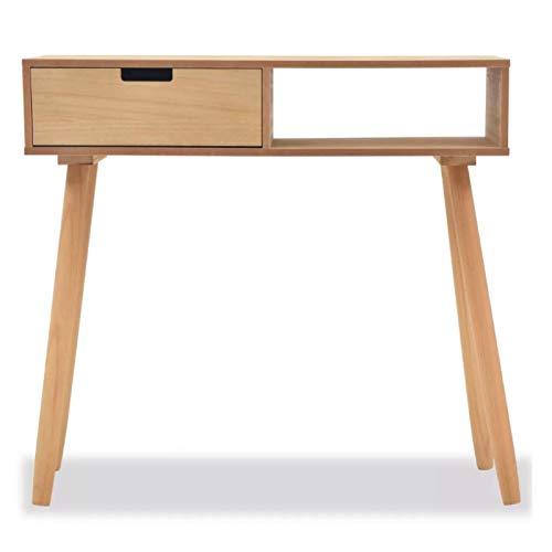 Mesa de consola rectangular moderna, mesa auxiliar para casa con cajón, mueble...