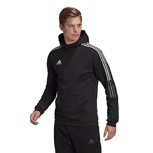 adidas mens Tiro 21 Sweat Hoodie Black Large