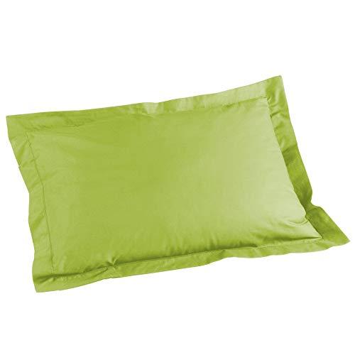 Douceur d'Intérieur - 1640705, Funda De Almohada, 50 X 70 Cm, Lit Uni, Liso 57 Hilos, Verde