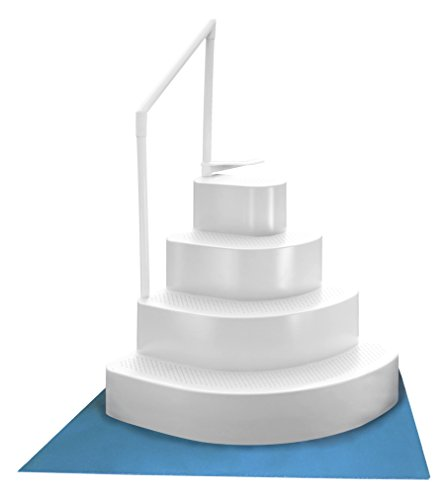Blue Wave NE110WH Wedding Cake Above Ground Pool Step with Liner Pad