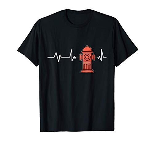 Fire Hydrant Heartbeat Fire Hydrant Gift Firefighter T-Shirt
