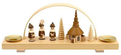 Miniaturschwibbogen Seiffener Kirche mit Kurende - F202/530/N