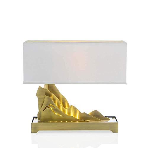 IREANJ Lámpara de mesa de mármol con diseño italiano para salón, dormitorio, moderno y minimalista, D45 x 40 cm, clásica noble