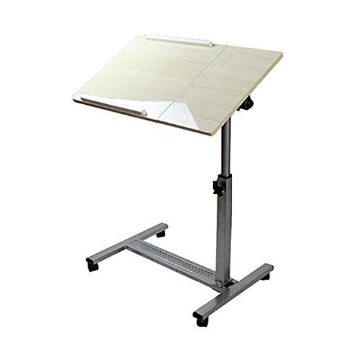 ZND Eenvoudig idee Draagbare Laptop Tafel nachtkastje Studie Tafel Kan Beweeg Desktop Verstelbaar, 2 Kleuren (Kleur: Zwart Walnoot Kleur, Grootte : 70X40Cm), Wit Esdoorn Kleur, 70x40CM