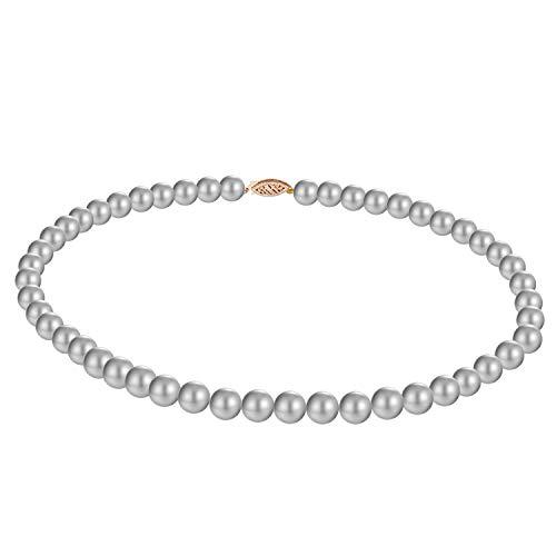 Original McPearl Perlenkette silber/grau. Top Qualität aus Deutschland.